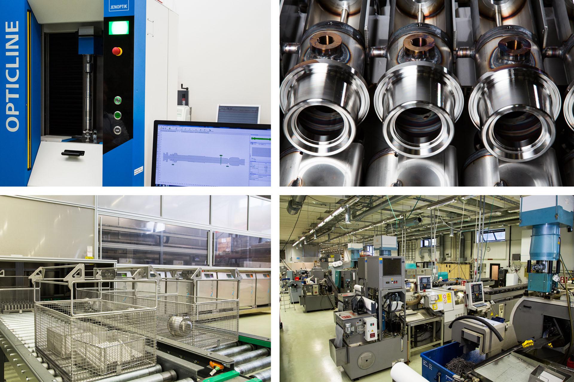 Tuotantoomme kuuluvat elektroniikkateollisuuden mekaaniset komponentit, paineilmaohjatut sylinterit, palloventtiilit ja komponentit sairaalateknologian laitteisiin.