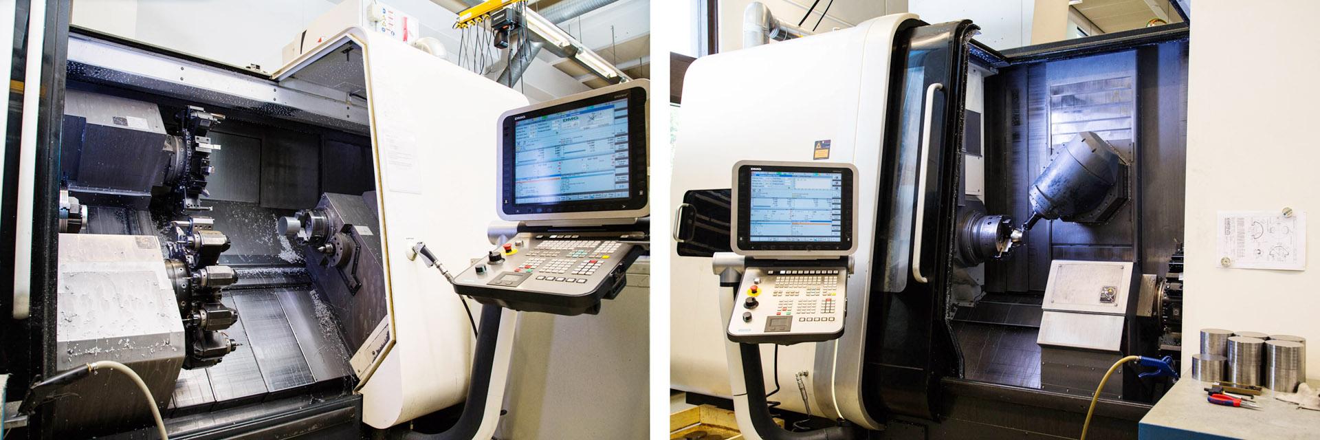 Tuotantomme koostuu uusimmista pysty- ja vaakakaraisista koneistuskeskuksista, tankoautomaatti/makasiini NC-sorveista, istukka NC-sorveista, NC-jyrsinkoneista, manuaalisorveista sekä muista koneista ja laitteista hitsauksessa, kokoonpanossa ja testauksessa.